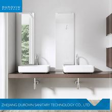 Modern Wall Hung Bathroom Public Double Sink And Countertop Wash Basin