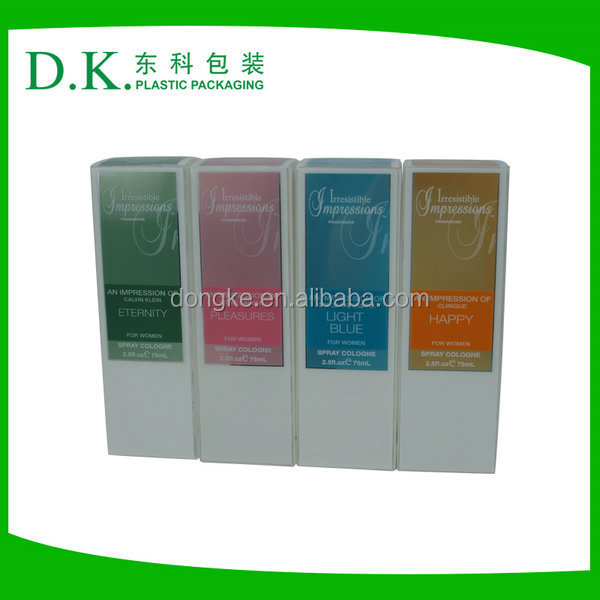 Rectangle Plastic Packaging PVC Box For Fragrance