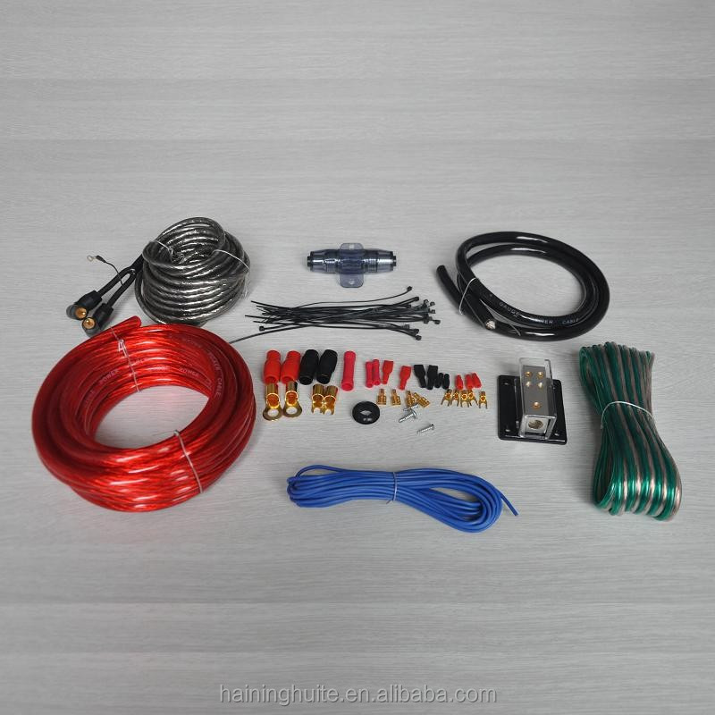8 GA amplifier intallation kit,male to male rca cable,fuse holder set,AMP installation WIRING KIT