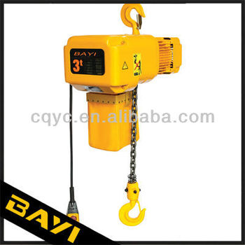 HBYSK 5ton endless chain electric hoist/electric crane for cargo