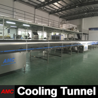 Crystallization Process Electrically Controlled crepe machine Cooling Tunnel Machine For Industry Production Line