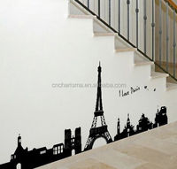 Eiffel Tower design pvc wall sticker customized decals