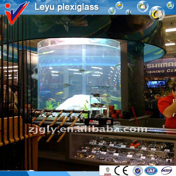 indoor shopping mall cylinder fish tank