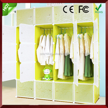 DIY cupboard folding plastic storage wardrobe plastic wardrobe for sale