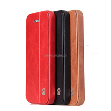 2017 innovation leather mobile case for iphone 5 book case cell phone accessory