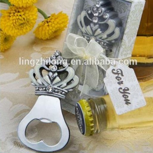 Wedding gifts fashionable cheap crown metal bottle opener for sale