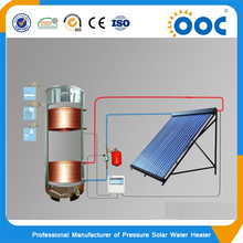 300L high pressure stainless steel split system with double cooper coils solar water heater