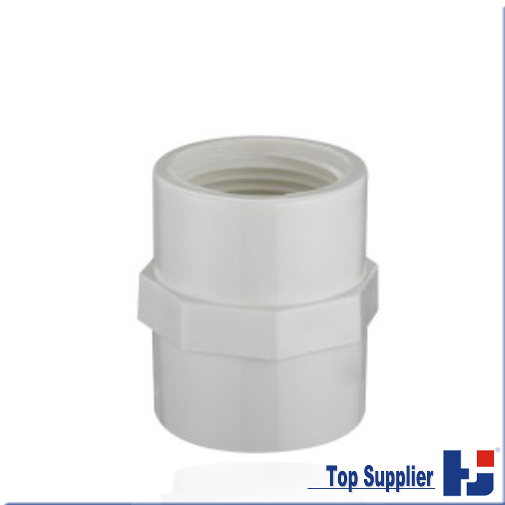 HJ UPVC schedule 40 water system water pipe fitting PVC female adapter coupling