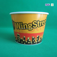 Hot selling 64oz Paper Fried Chicken Bucket with paper lid
