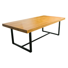 China supplier vintage industrial solid tree wood dining table