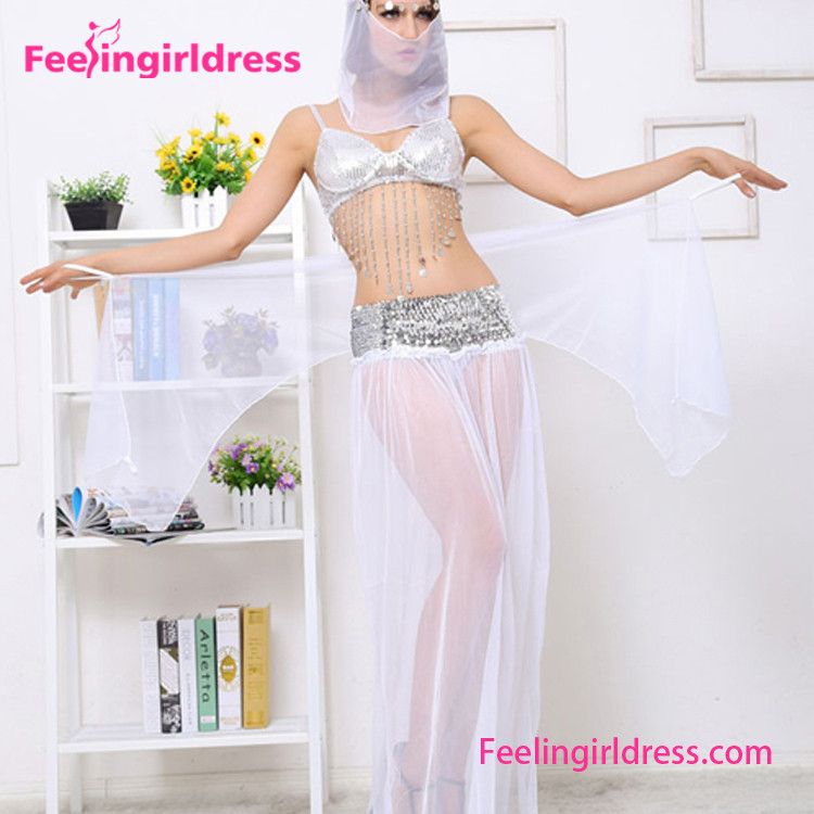 Hot Sexy Girl Veil Cheap High Quality Turkish Belly Dance Costume