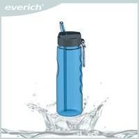 350ml Promotional reusable plastic cup with straw and lid