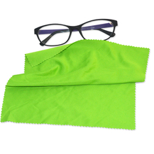 custom LOGO printing soft microfibre lens eyeglasses cleaning cloth