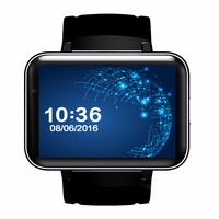 2017 DM98 3g watch phone android 2.2'' Screen GPS wifi dz09 smart watch phone