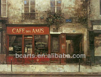 European romantic French cafe-style paintings high quality oil painting abstract art