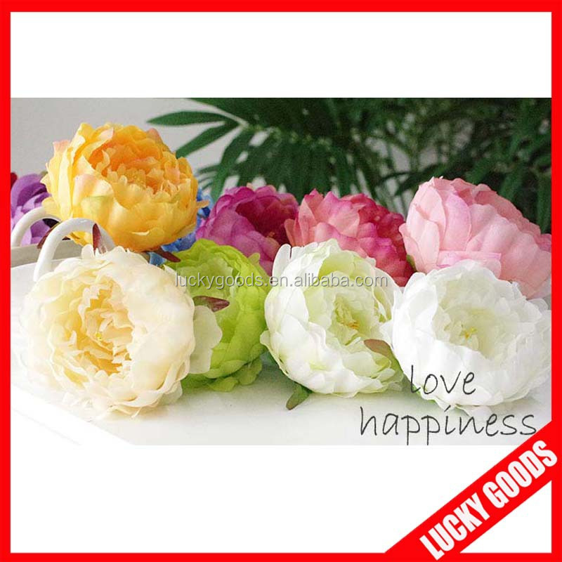 various color peony flower bloom bulk silk flowers wholesale