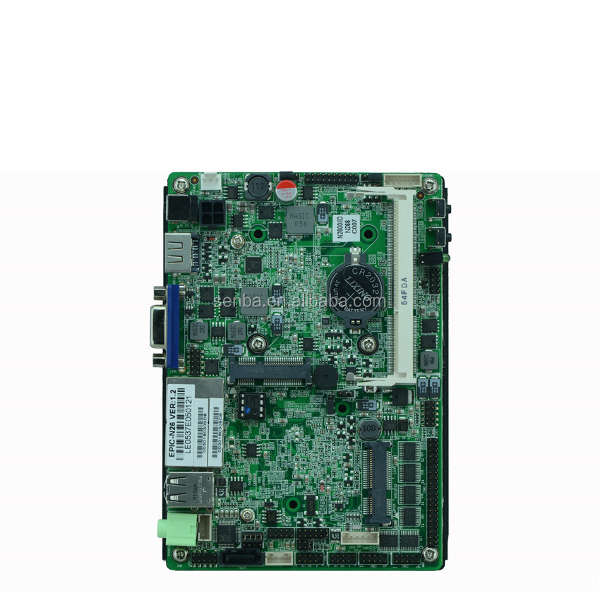 cheap fanless atom n2800 x86 single board computers sbc with lvds 2 lan 6*com 6*usb2.0