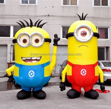 2017 Hot sale large inflatable minion, minion balloon for advertising