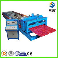 metal roof tile and wall sheet roll forming machine, blue glazed roof tile roll forming machine