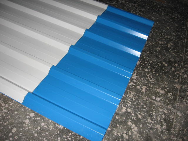 corrugated color coated metal roofing sheet