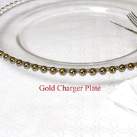 Wedding Glass Gold Charger Plates Wholesale Dinner Plate