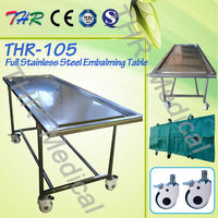 THR-105 Funeral Moveable Stainless Steel Embalming Table
