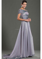 Fashion Strapless Chiffon Pleat evening dresses for pregnant women FXL-994