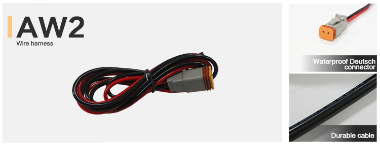 offroad led light bar led driving light wire harness