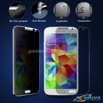 privacy tempered glass for Samsung Galaxy s5 black privacy tempered glass screen protector