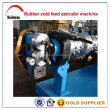Rubber sheet cold feed extruder for tyre retreading
