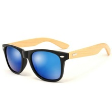 2018 Cool Fashion Mirror Outdoor Sport bamboo sunglasses