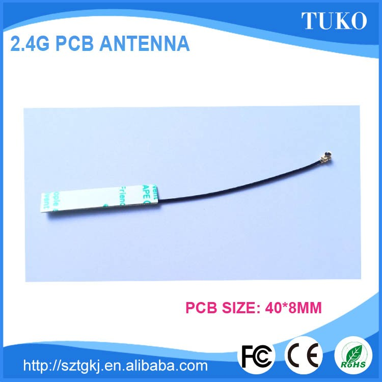 Best selling 2.4g rf wireless patch antenna wifi antenna pcb antenna with 100mm length IPEX cable