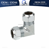 carbon steel pipe fitting hydraulic tube fitting elbow comression fitting
