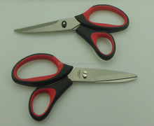 factory supply OEM design hot sale as seen on tv scissors with red and black handle