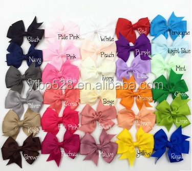 30 Colors Baby Ribbon Hair Bows WITH Clip,Baby Girls' Decorative PinWheel Hair Bows Clips Hair Accessories