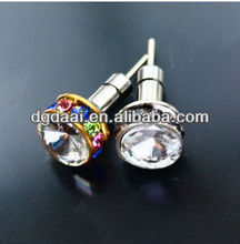 Mobile phone dust plug anti dust plug diamond headphone dust plug