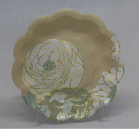Custom printing flowers paper plates charger plates wholesale