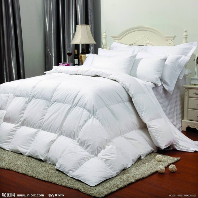100% cotton duvet for home 30%washed duck down filled comforter