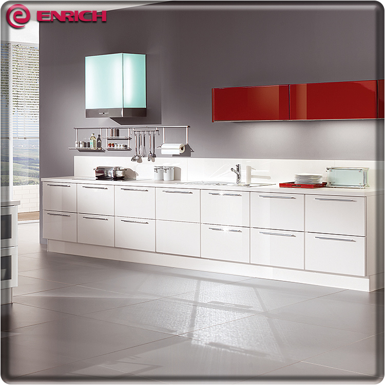 Foshan Factory High Gloss Acrylic Kitchen Cabinet Door Kitchen Cabinet  Drawers Water Resistant Kitchen Cabinet - Buy Water Resistant Kitchen ...