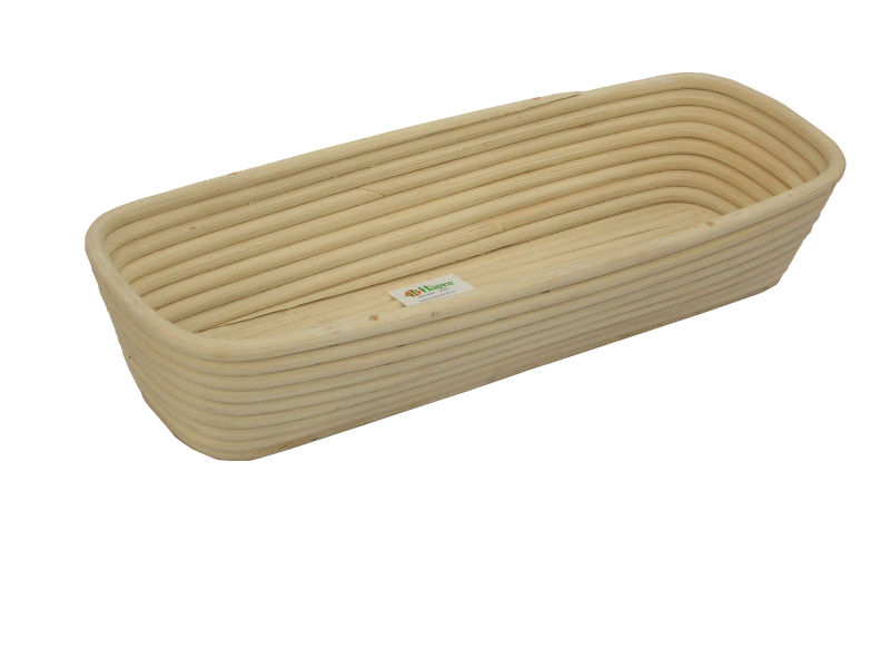 Rattan bread basket with natural material (HMT 11.309)