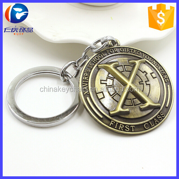 Movie Souvenirs super hero X-Men keychain X Men Logo Metal Keyring