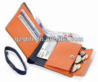 factory wholesale european classicla leather men wallet in coin pocket with credit card slot grain cow leather business wallet