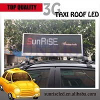 Sunrise p5p6 wireless control system car roof led display screen for advertising