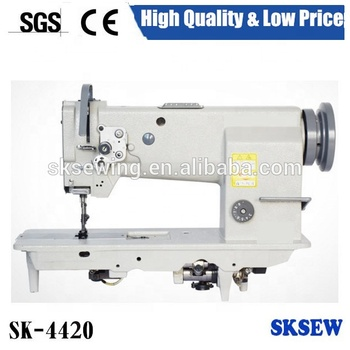 4420 double needle heavy duty lockstitch industrial sewing machine