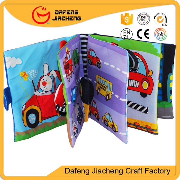 2017 New Design Infant Plush Cloth Book For Kids