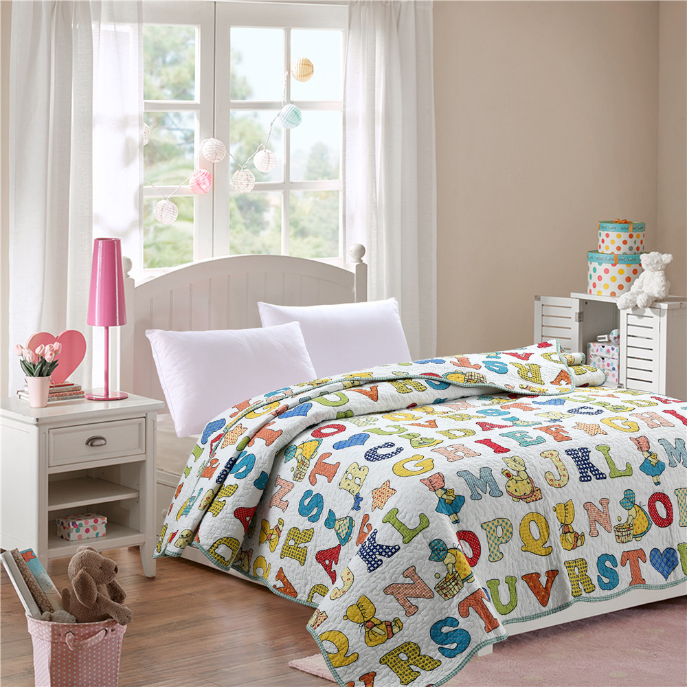 children patchwork kids quilts made in China