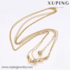 42062-Xuping 2016 Fashion Imitation Jewelry 18k Gold Plated Long Chain Necklace