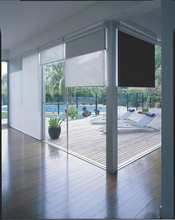 RRAJ Dual Motorized Roller Blinds Blackout Sun Shade