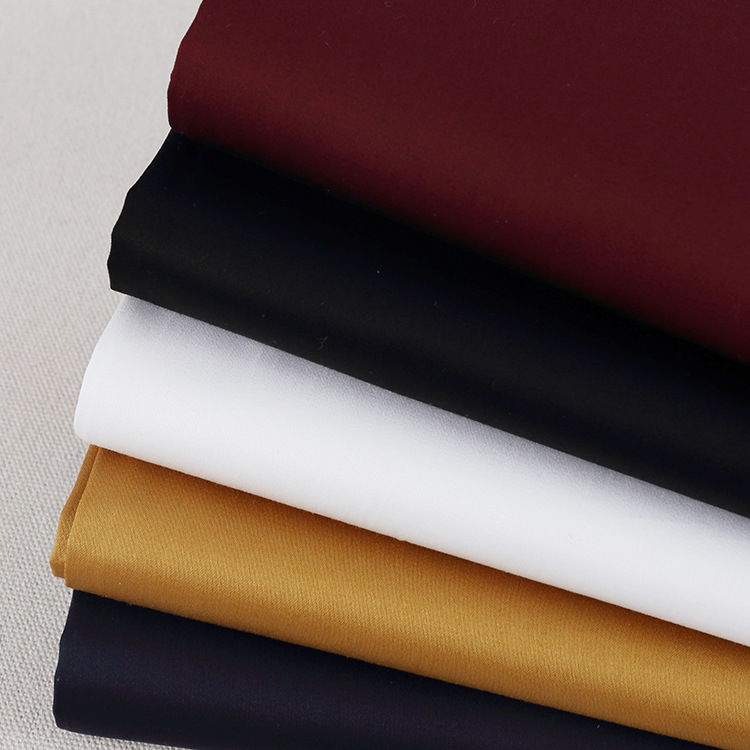 cotton 160gsm non stretch textile twill sateen fabric