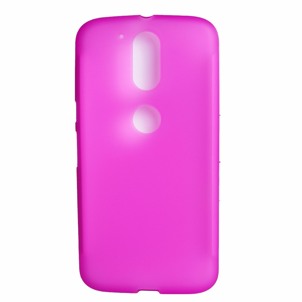 Simple jelly TPU soft case cover for Moto g4 plus